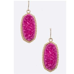 Jewelry - Just In! Druzy Oval Earrings